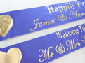 Personalised Wedding Banner - Purple & Gold